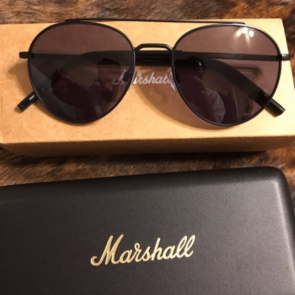 ba4d7a9e283 Marshall Eyewear Aviators Black Metal Sunglasses